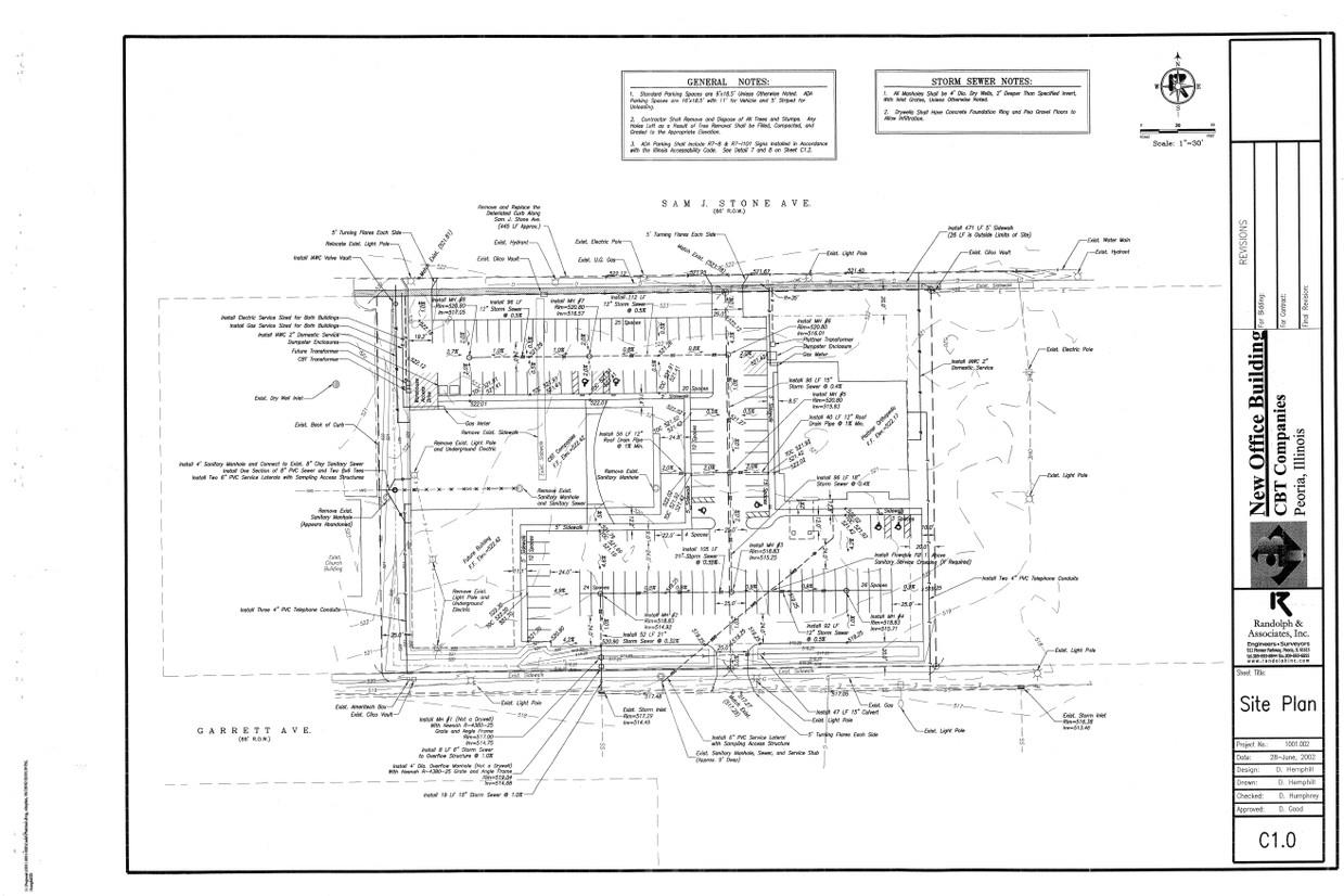 Property For Lease Residential Electrical Plan General Notes Floor Site